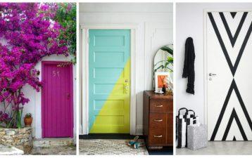 Portas coloridas, aposte nessa ideia para incrementar a decoração