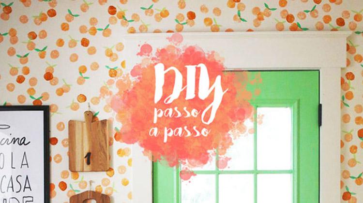 Quer carimbar sua parede com algumas laranjas e muito charme?